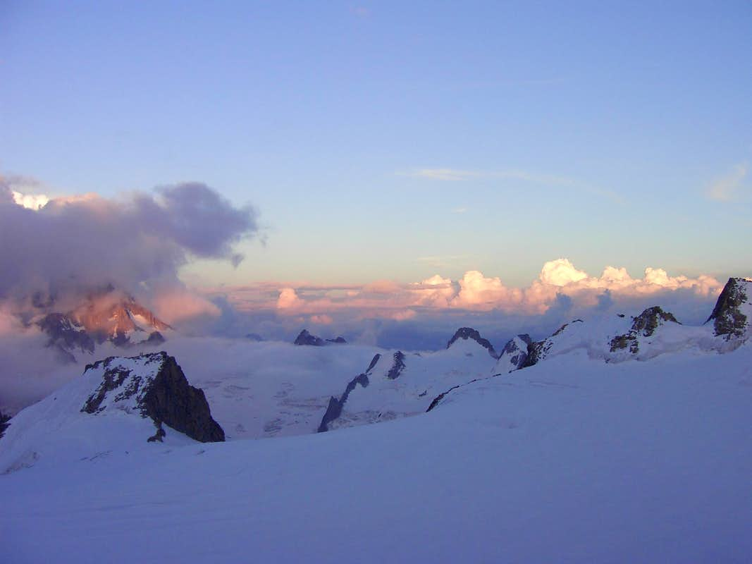 Evening view from Refuge Cosmique