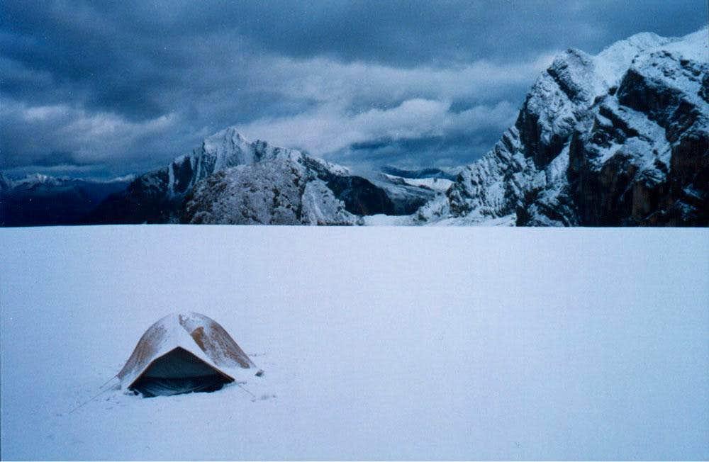 Very flat Swiftcurrent Glacier
