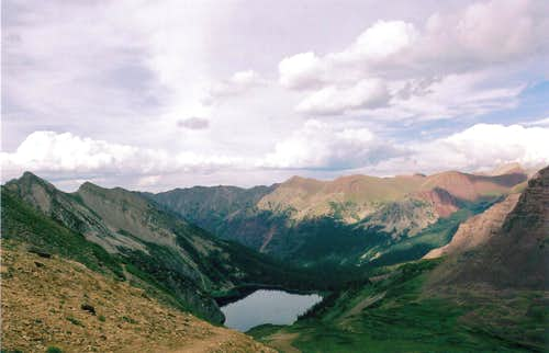 Snowmass Lake from Trail Rider Pass