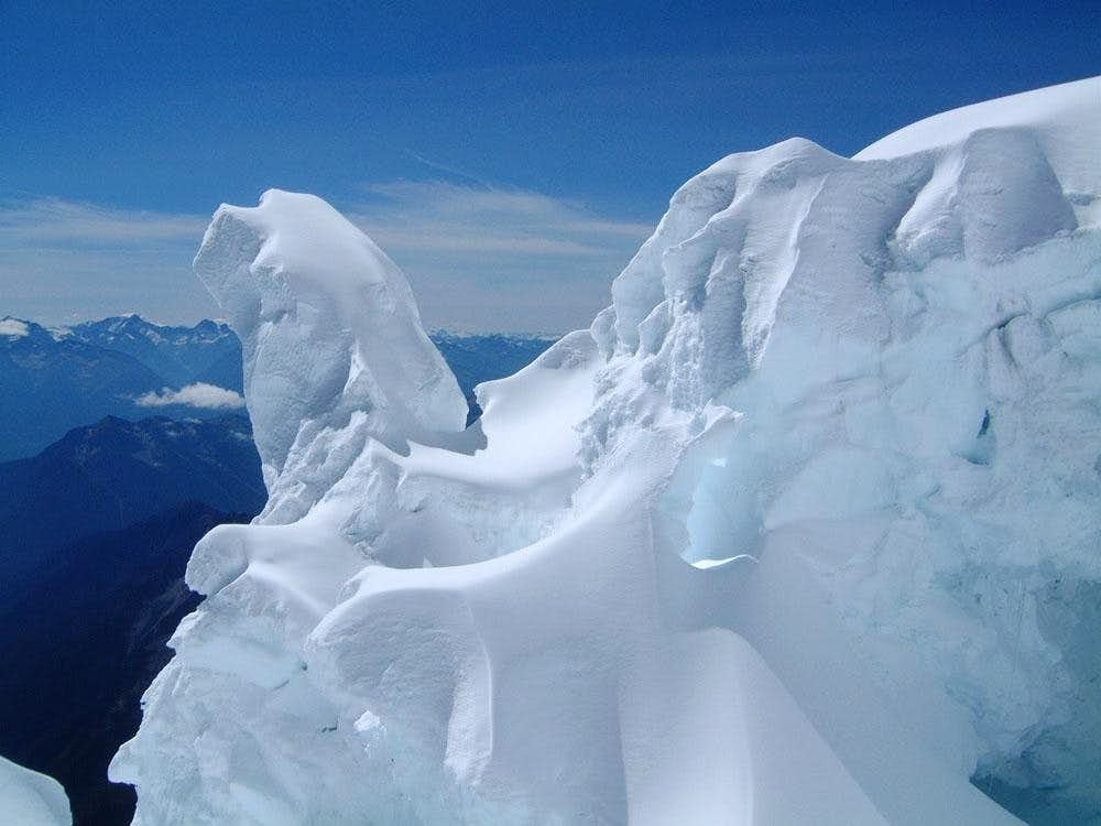 Wind-sculpted gargoyle