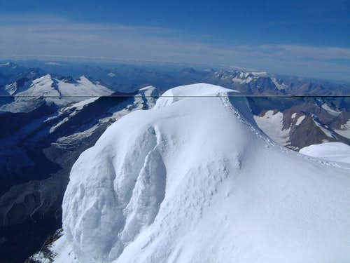 Snow mound on the summit of Mount Robson