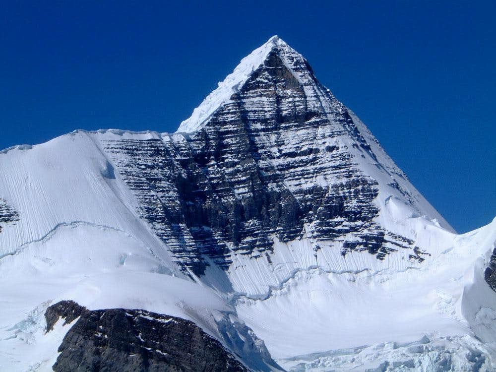 East face of Mount Robson from Resplendent Mountain