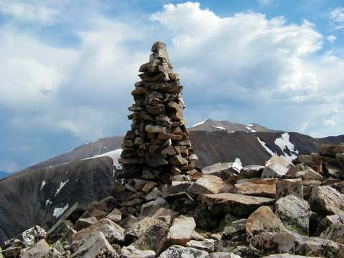This monster cairn marks the...