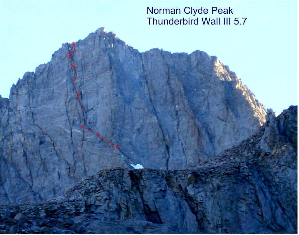 Norman Clyde Peak, Thunderbird Wall