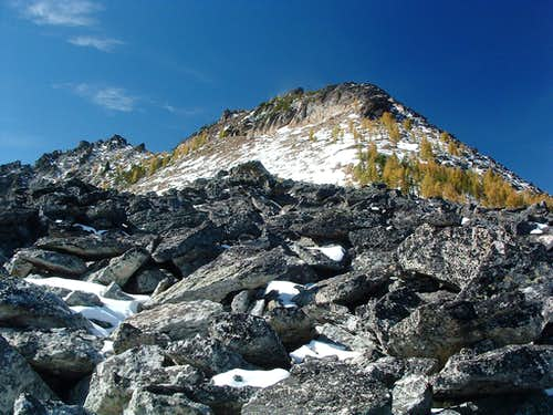 Bare Peak\'s Northeast Ridge-Crest