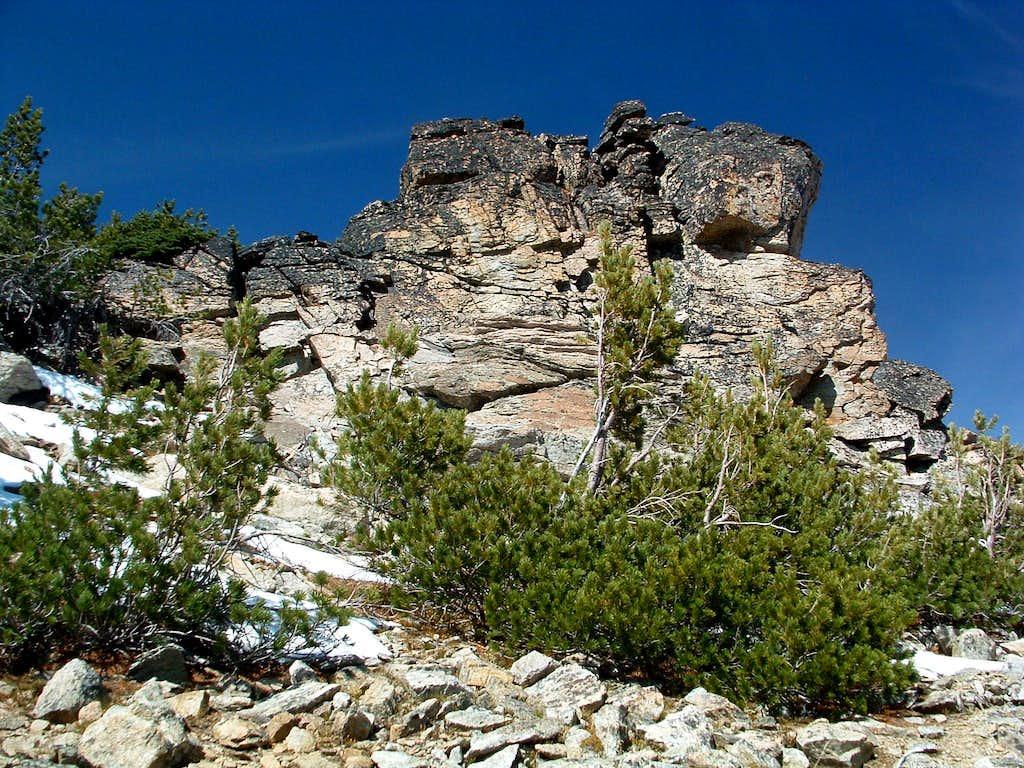 Rock Pile Near Bare Peak Summit