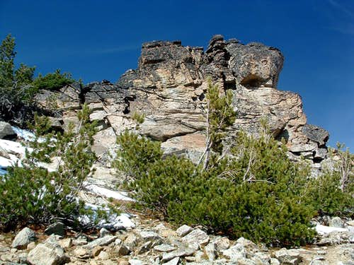 Rock Pile Near Bare Peak Summit