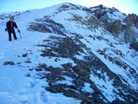 Heading down ridge from PT 13,795