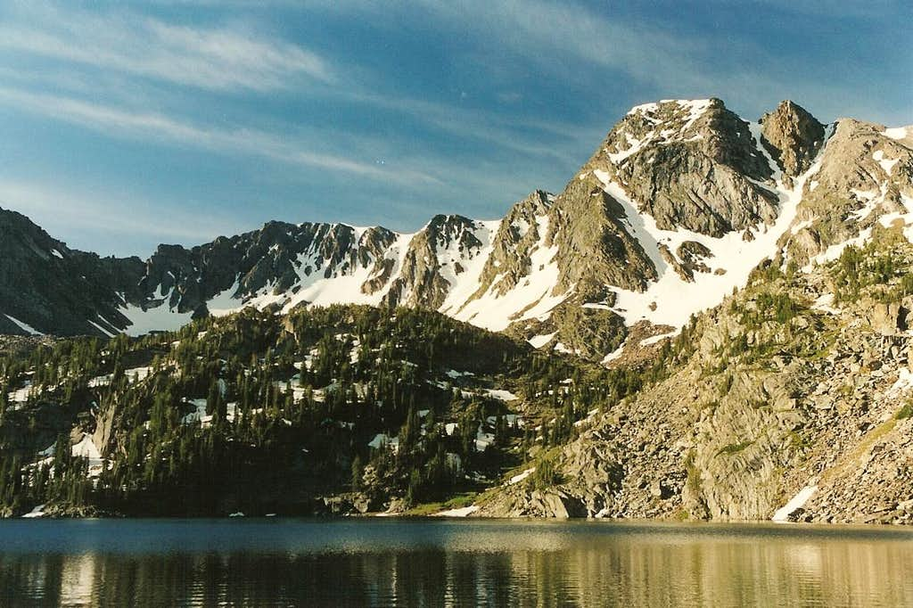 Pine Creek Lake and Black Mountain