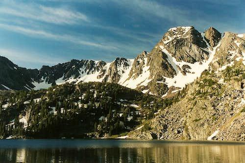 Pine Creek Lake and Black Mountain