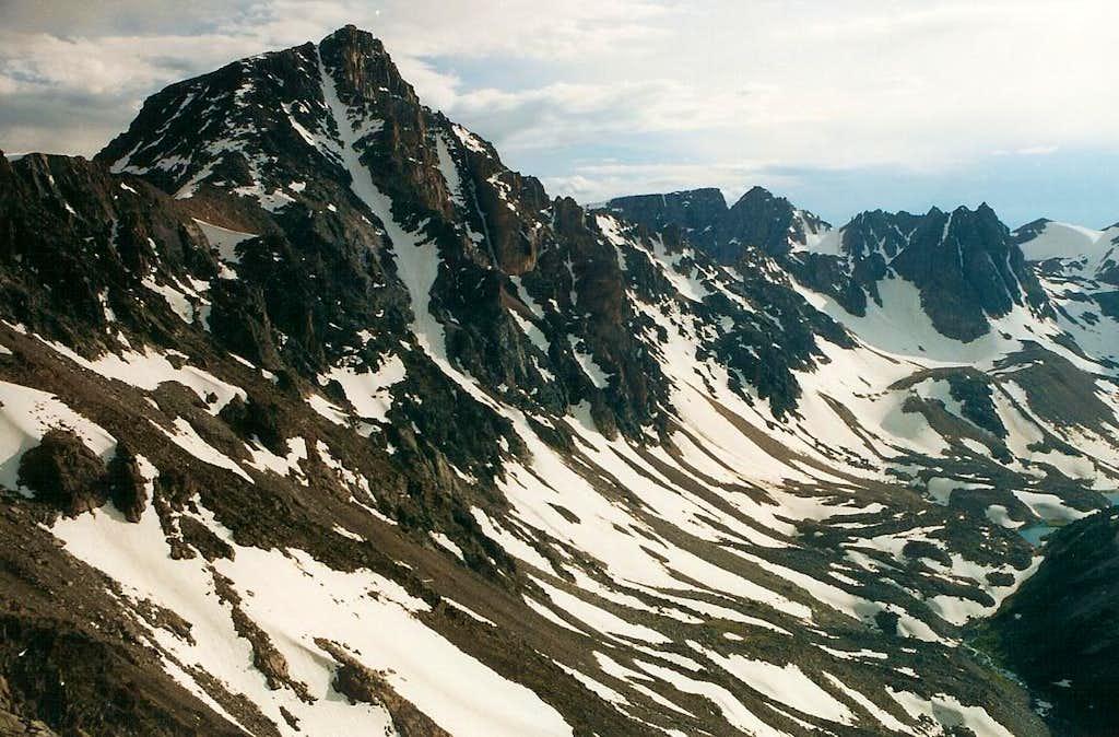 Whitetail Peak from Sundance Pass