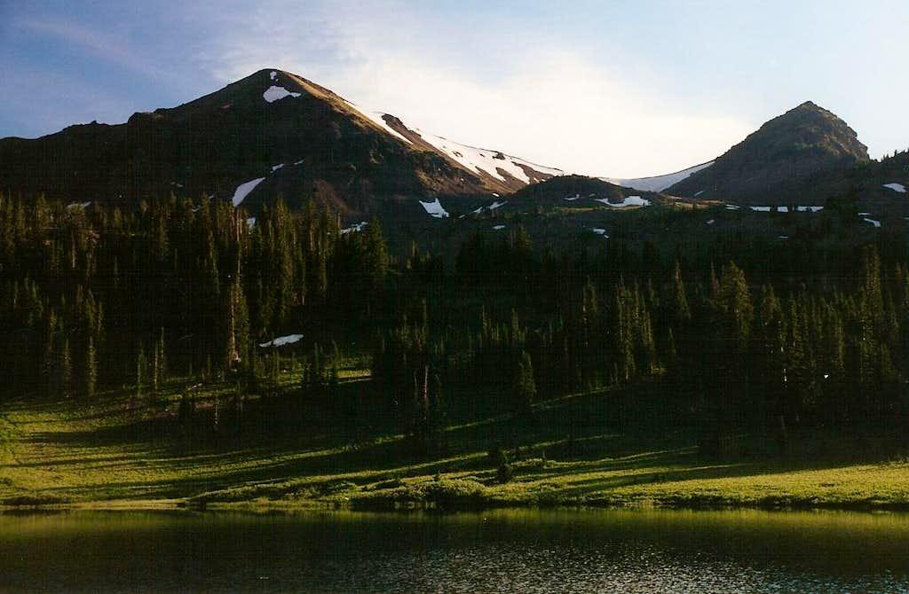 Sunset at Hyalite Lake