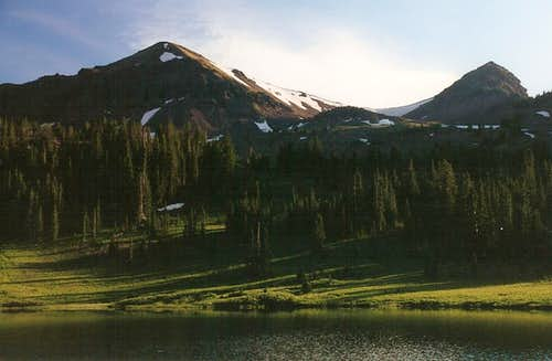 Sunset at Hyalite Lake
