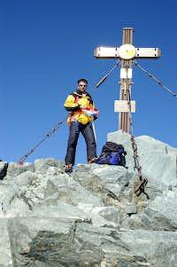 Damir Mesec on the summit of Grossglockner
