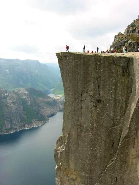 The edge of Preikestolen