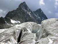 Mont Pelvoux from Glacier Blanc