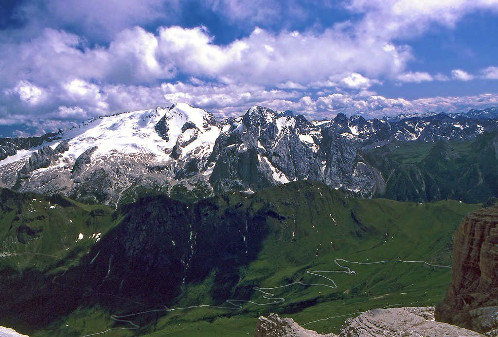 Marmolada from the summit of Piz Boe