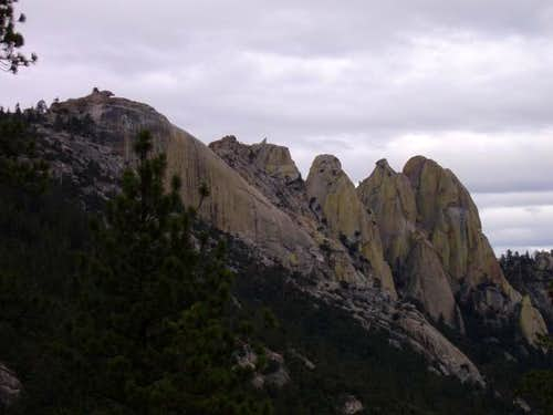 The Needles from Needle Rock Road