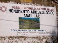 Waullac, Huaraz