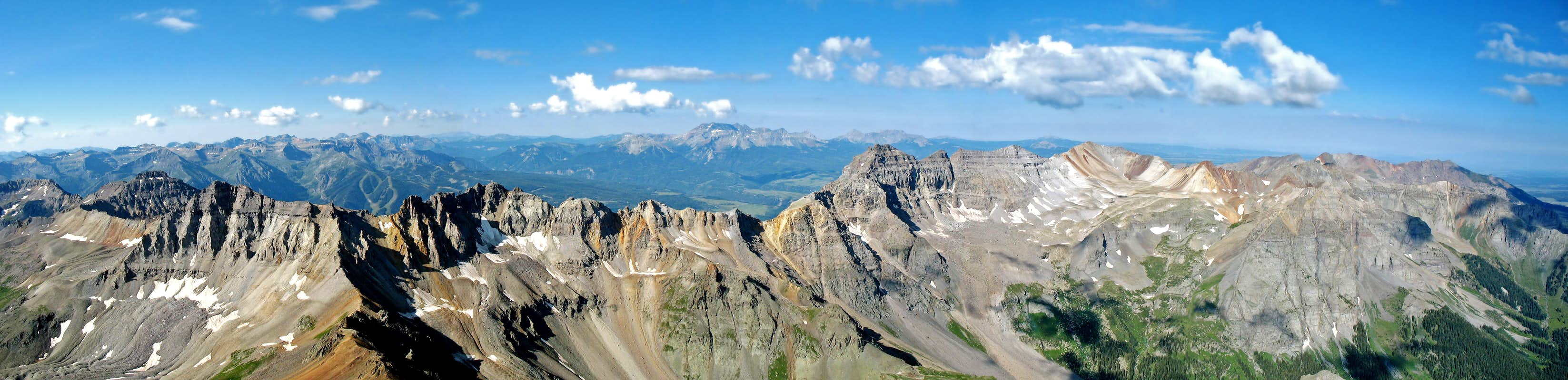 Panorama from the summit of Mount Sneffels.