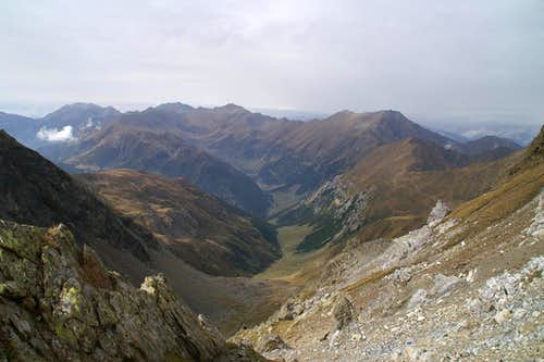 Looking out of the col