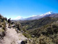 Ishinca to Collon Trail Head Spur  Great views of Huascaran