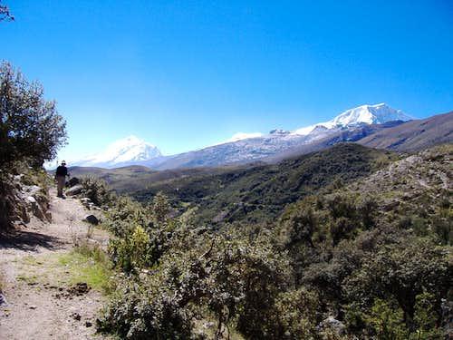 Ishinca to Collon Trail Head spur Great Views Huascaran & Copa