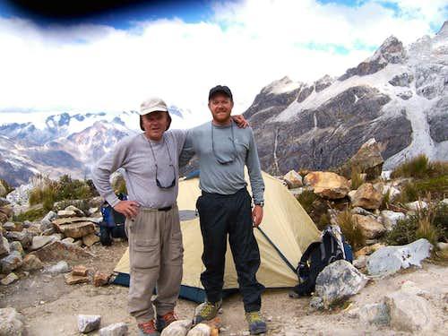 Pisco Moraine Camp, after climb