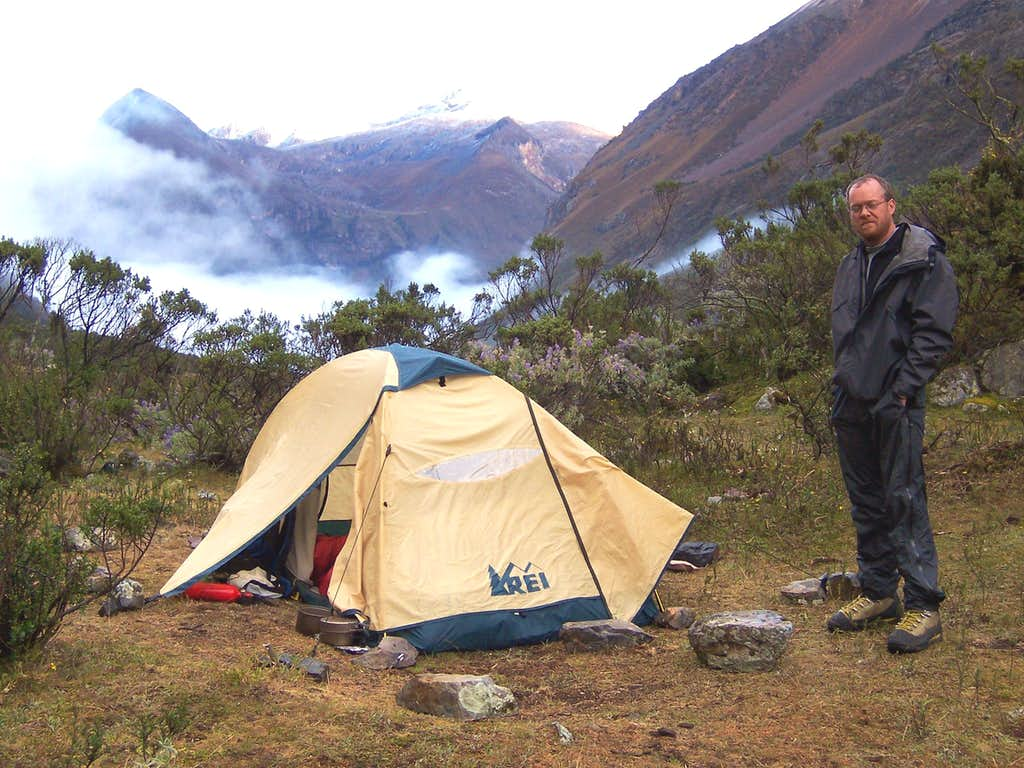 Maparaju Base Camp, waiting for weather to clear