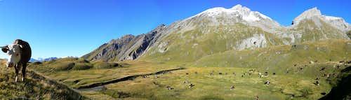 Grande Rochere (3326m) and Aiguille de Bonalè (3201m)