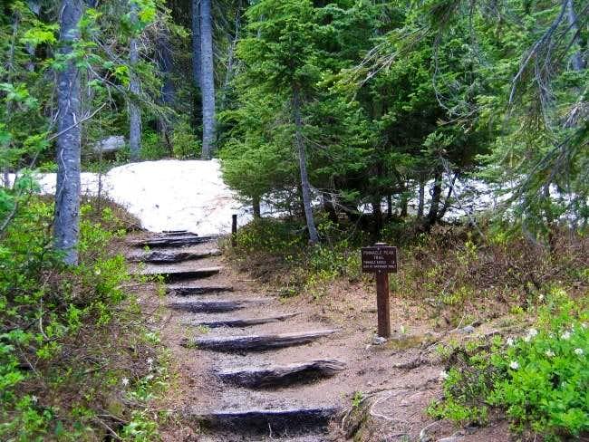 The Pinnacle Peak (saddle)...