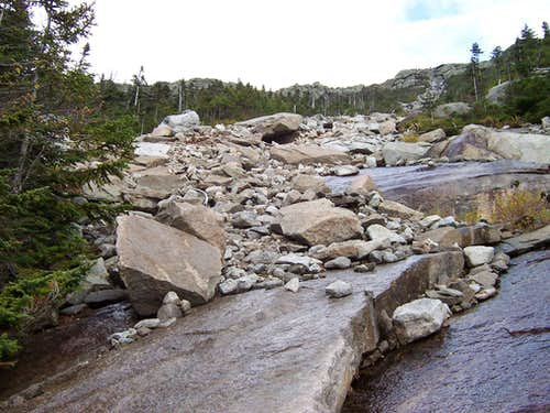 Whiteface Brook Slide - Scree and Talus