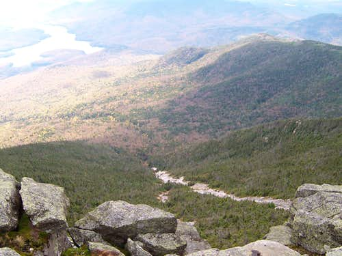 Whiteface Brook Slide from the Summit