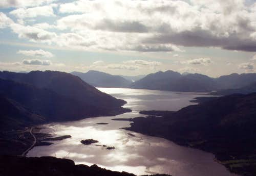 The view from the Pap of Glencoe.
