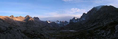 Titcomb  Basin at Daybreak