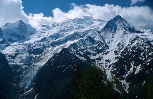 North side of Mont Blanc group