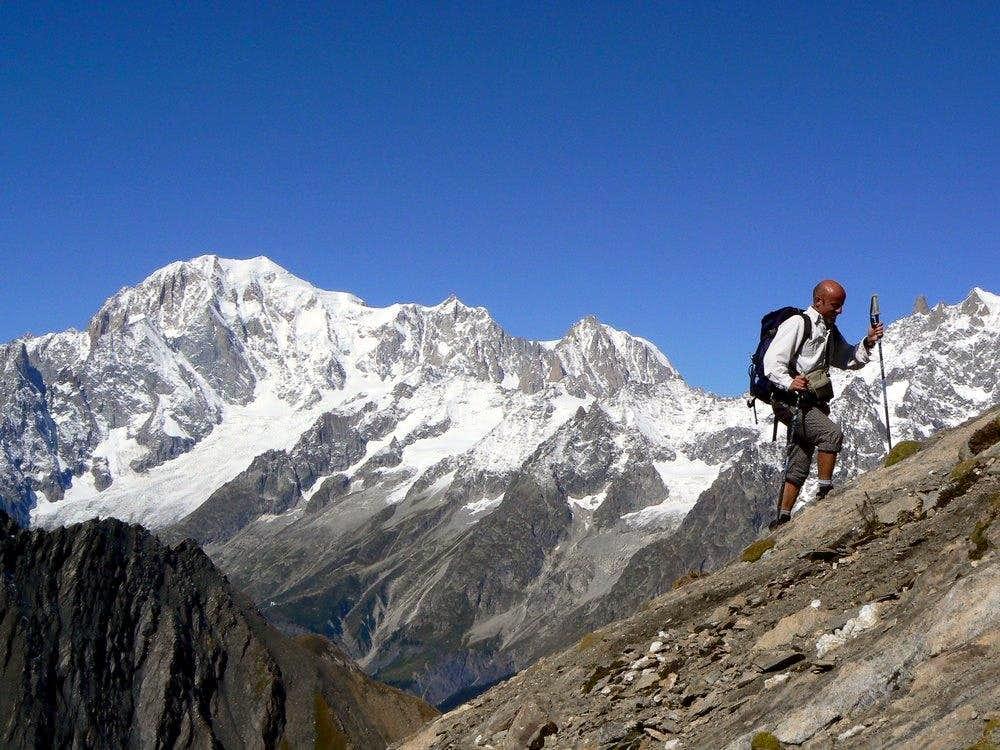 Aiguille de Bonalè. SW ridge