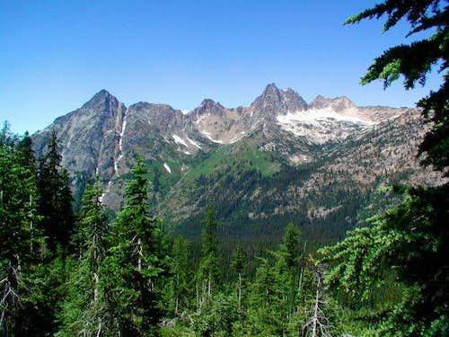 Cutthroat Peak as seen from...