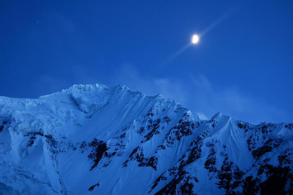 Moonlit Shimshal Whitehorn's NW Ridge