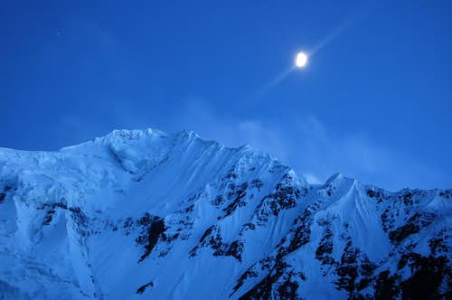 Moonlit Shimshal Whitehorn\'s NW Ridge