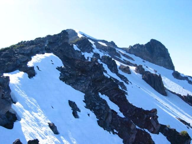 Looking back up the summit...