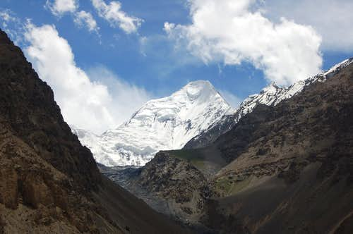 Shimshal Whitehorn from the Shimshal Valley