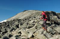 Climb to Keihaus topp (2355m) on route to Galdhøpiggen s Summit
