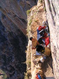 Bivy on Rainbow Ledge