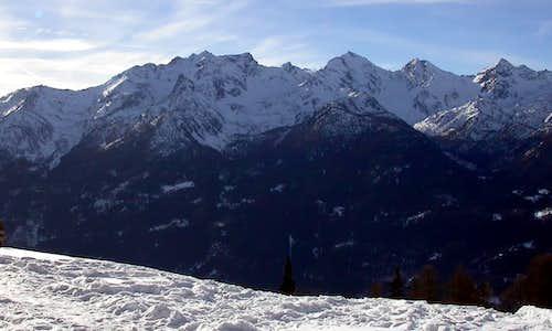 il gruppo del Monte Paramont