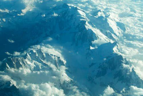 Mont-Blanc + Grandes Jorasses