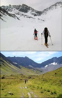 Vallone di Malatra in Spring and Summer
