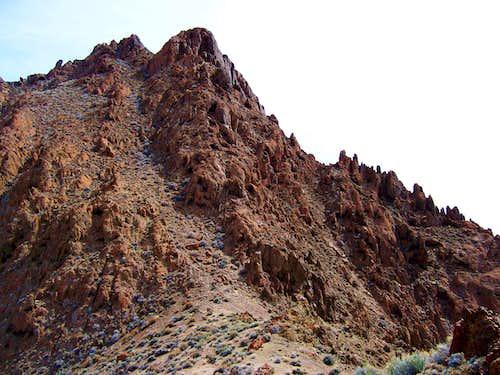 Route up Volcano Peak