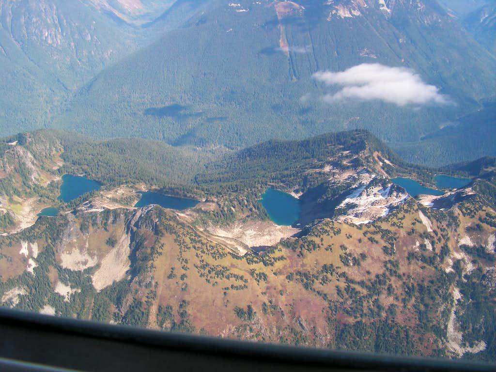 peaks and lakes