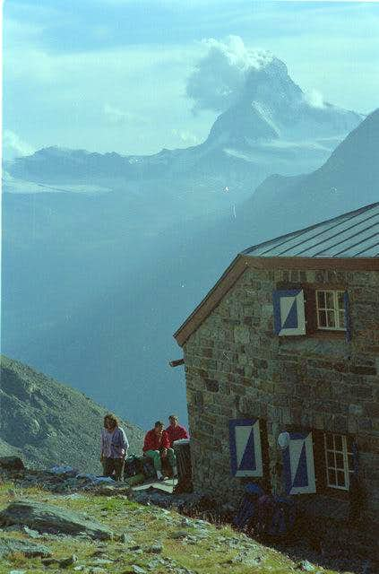Dom hut 2940m with...